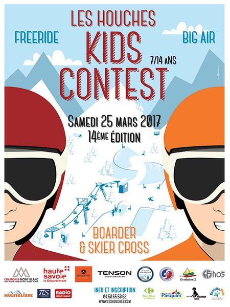 la compétition ski pour enfants