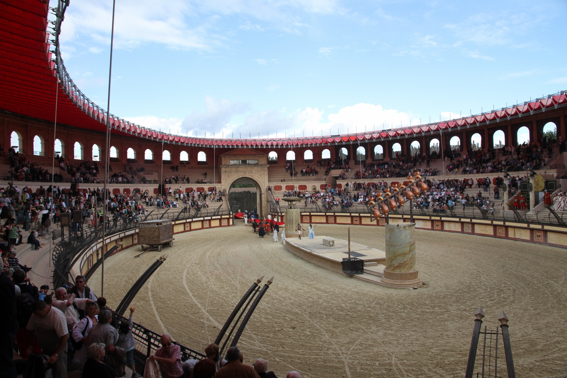 Spectacle de gladiateurs au Puy du Fou